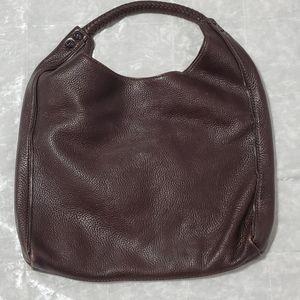 Michele Large Brown Leather Inez Hobo Tote Bag